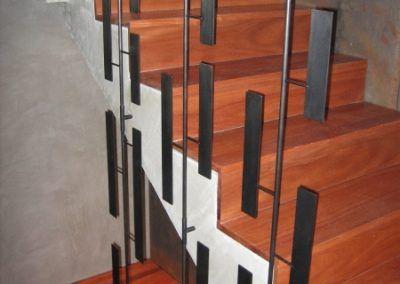 Art installation in luxury home