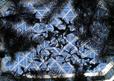 Large suspended sculpture installation